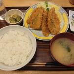 つるかめ食堂 - アジフライ定食¥825-