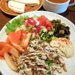 12466215 - シャワルマ(鶏のスパイシー炙り焼)ランチセット ¥900