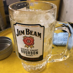 立ち飲み居酒屋銀座ドラム缶 - メガジムビームハイボール
