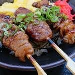 大谷パーキングエリア(上り線)スナックコーナー - 焼き鳥丼