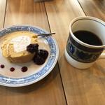 喫茶ランドリー - ケーキセット@750円