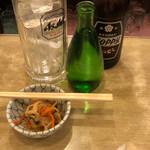 酒場 ふくろ - ホッピー(焼酎別)+焼酎瓶詰 一八〇m/l+お通し