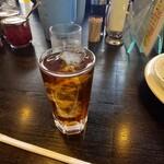 カレーショップ ラホール - 食後のウーロン茶