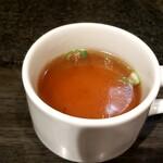 油そば専門店 春日亭 - スープ