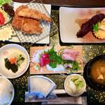 大浜丸 魚力 - 「魚力定食(おかずが3つの定食)」@2052