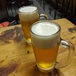 カミヤ - 生ビール スーパードライ 460円x2杯