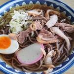 太郎亭 - 肉そば(冷・大盛り)♪