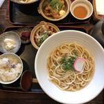 晃庵 - 唐揚げとおうどん定食¥1000