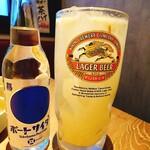 124716338 - 横浜ポートサイダー420円自家製レモンサワー30円                       サイダーより安いってどういうこと?w