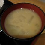 かのや萩原 - 味噌汁