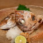 Yoshihara - 2020.1 加太鯛カブトとカマ塩焼き