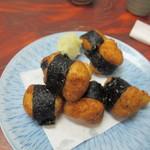蕎麦割烹 黒帯 - 自然薯の磯辺揚げ