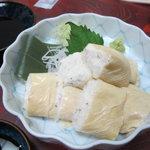 蕎麦処 黒帯 - 自然薯湯葉包み