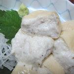 蕎麦処 黒帯 - 湯葉包みのアップ