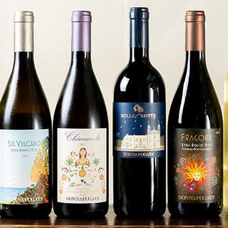 シチリア料理に合う、シチリアワインのみをご提供しております
