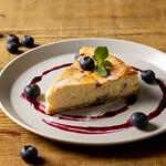 フリーマン カフェ - ブルーベリーホワイトチョコレートチーズケーキ