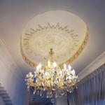 オーシャンパシフィックカフェ - 天井のシャンデリア