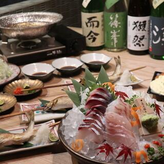 コース料理は飲み放題付きで5000円〜ご用意しております。