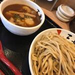 三豊麺 - 濃厚魚介つけ麺(大盛)