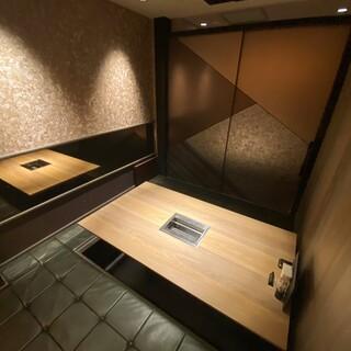 別邸の個室は別格。特別な時間を特別な方とお過ごし下さい