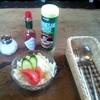 ベル - 料理写真:スパゲティに付くサラダ(手ぶれ御免!)