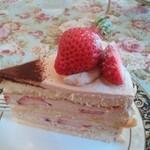 124761595 - 季節の果実の紅茶ケーキ