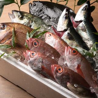 九州全域で水揚げされた魚介類のみを仕入れるこだわり