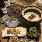 創作天ぷらと炭焼きワイン はかたあゆむ - 2020年2月コース