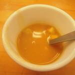 12477858 - 海老のカツレツ タルタルソース スープ
