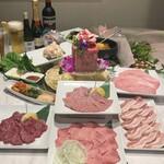 焼肉ダイニング 白李 月 - 春の贅沢お祝いコース