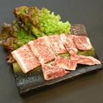 松阪牛ホルモン まつや - これが究極。特上ハラミは色味、霜降りともに最高品質。