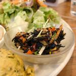玄米カフェ 実身美  - ひじきとツナのペペロンチーノ風