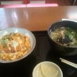 更科 - カツ丼&温ソバ/ミニ