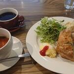 カフェ&バー ヌプカ - クロックムッシュセット 1,100円(税込)