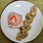 パンジャ - ・春菊のベーコンエピ 228円 ・ストロベリーのモンブラン 370円
