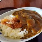 鶏の白石 - エビフライカレー ¥850
