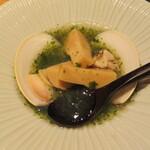 祇園たけうち - 筍と蛤、若芽