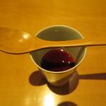 祇園たけうち - ほうじ茶のババロア