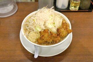 麺屋武一 北千住店 - 注文してから10分ほどで「ガチ盛り麺(麺大盛り)」が完成!