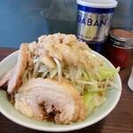 かじろうramen7 - ラーメン小野菜まし、あぶら増し増し20200204