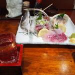 瑠玖&魚平 - 冷酒 & 本日のお刺身