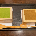 マッチャ ハウス 抹茶館 - 宇治抹茶とほうじ茶のティラミス