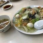 翠明 - あんかけ炒飯