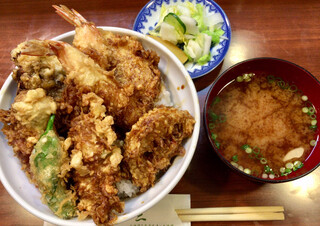 天三 - 「季節の天丼」@1320(税込)