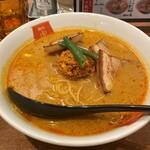 麺屋虎杖 - チャーシューカレー担々麺