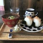 自家焙煎コーヒーcafe・すいらて - おにぎりのモーニング「すいモーニング」なんと500円です!(2020.2.4)