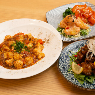 自家製の「四川風麻婆豆腐」は、お得なコースでもご提供!