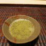 紀茂登 - 蟹味噌の出汁割スープ