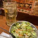 ターリー屋 - ハイボール 350円  サービスサラダ