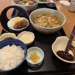 味の民芸 - カレーうどん定食